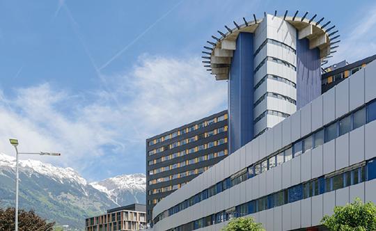 Abb. 1: Campus Chirurgie der Universitätskliniken Innsbruck (zur Verfügung gestellt von der Medizinischen Universität Innsbruck).