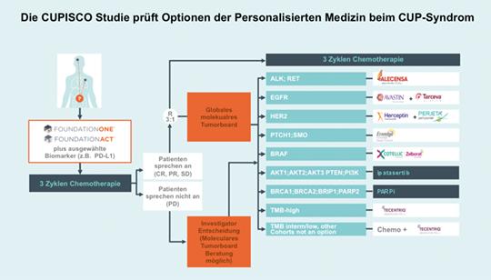 Abb. 1: Studiendesign der CUPISCO-Studie (Roche).