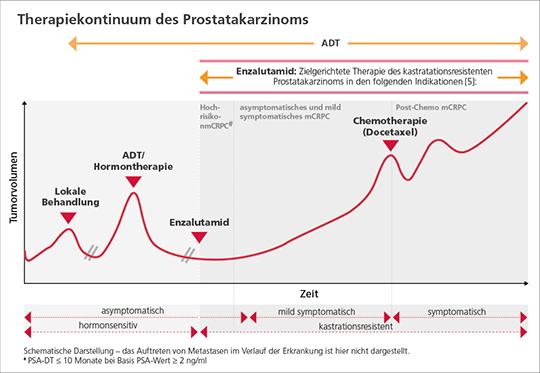 Abb. 1: Enzalutamid und ADT: Effektive Tumorkontrolle in der Therapie von Prostatakarzinom-Patienten.