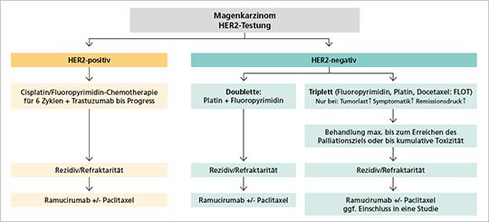 Abb. 1: Palliative Therapie des Magenkarzinoms (Stadium IV).