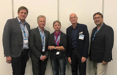 Der neue Vorstand der DGFIT: Prof. Dr. A. Hegele, Prof. Dr. M. Siebels, Prof. Dr. E. Nößner, Prof. Dr. H. Heinzer, Dr. Z. Varga (v.l.) – es fehlt: Prof. Dr. D. Rüttinger.