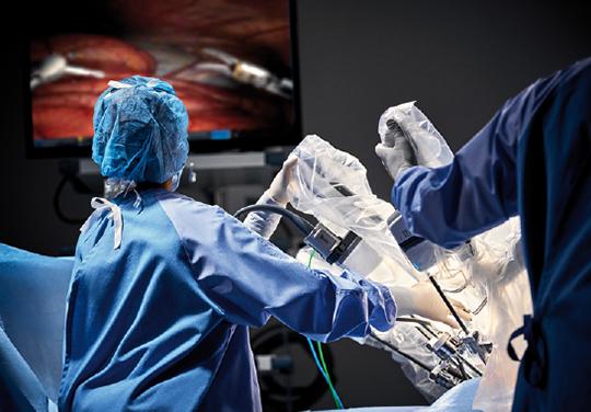 Abb. 1: Das da Vinci Xi-Chirurgiesystem im Einsatz.