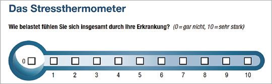 Abb. 1: Das NCCN-Stress-Thermometer.
