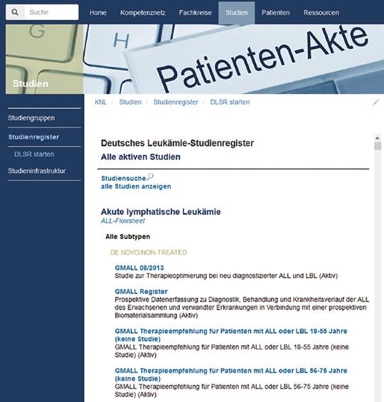 Abb. 1: Deutsches Leukämie-Studienregister.