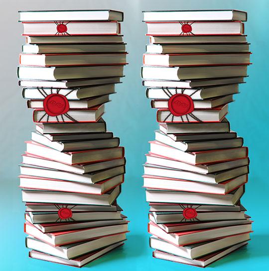 Wie bei einem versiegelten Buch können einige Gene aus der DNA-Bibliothek nicht gelesen werden, denn manche Gene werden je nach Zelltyp nicht gebraucht. Das Enzym PRC2 hilft in Zellen beim Versiegeln. © Monika Krause / MPI für Biochemie