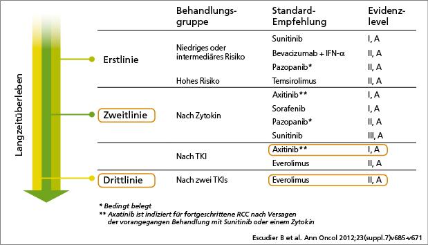 Empfehlungen ESMO 2012 Guidelines