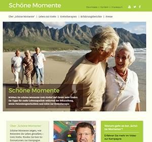Neue Website für Patienten: Schöne Momente trotz Krebs