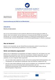 Zusammenfassung des EPAR für die Öffentlichkeit EMA Adcetris