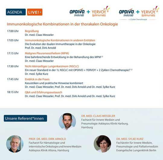 Veranstaltungsdetails Immunonkologische Kombinationen in der thorakalen Onkologie